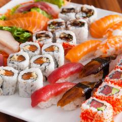 Sushi v zahradě